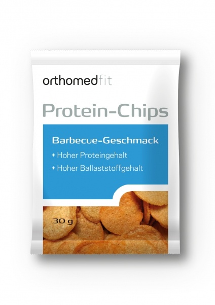 Orthomed Protein-Chips mit Barbecue-Geschmack 30 g
